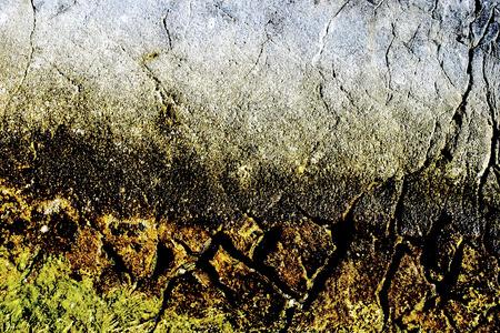 limestone: Cracks in limestone surface