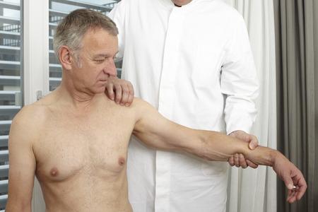 sick person: Mature man at medical examination