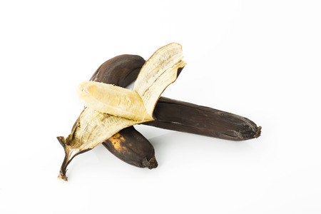 overripe: Overripe bananas with brown peel