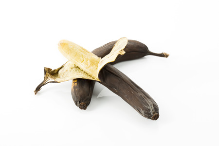 ripeness: Overripe bananas with brown peel