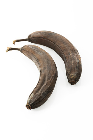 overripe: Overripe bananas with brown peel