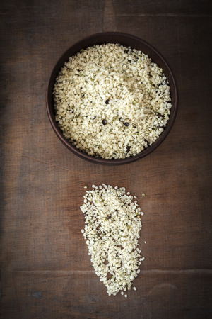 peeled: Peeled hemp seeds