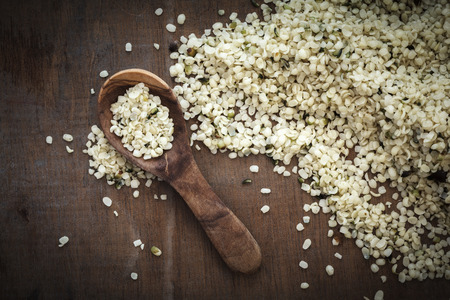 hemp: Peeled hemp seeds