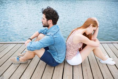 Junge Paare, die Verhältnis-Probleme Lizenzfreie Bilder