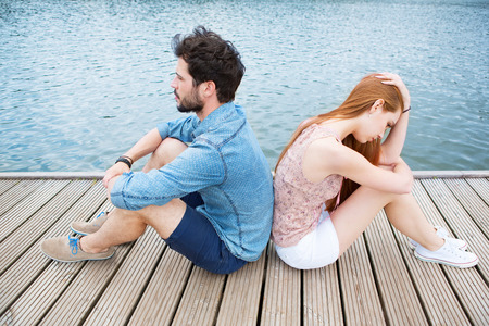 relationship problems: Young couple having relationship problems