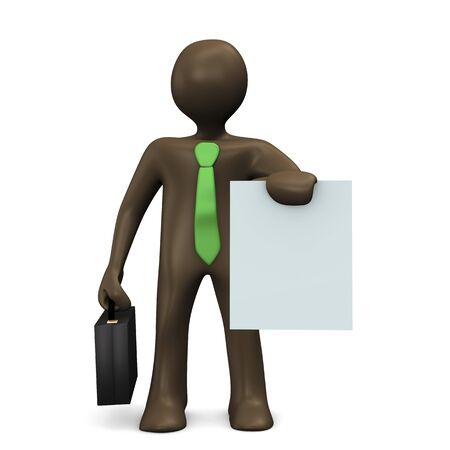 comic figur: Angebot, 3D-Darstellung mit schwarzen Zeichentrickfigur Lizenzfreie Bilder