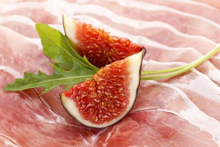 serrano: Serrano ham and chopped figs, rocklet
