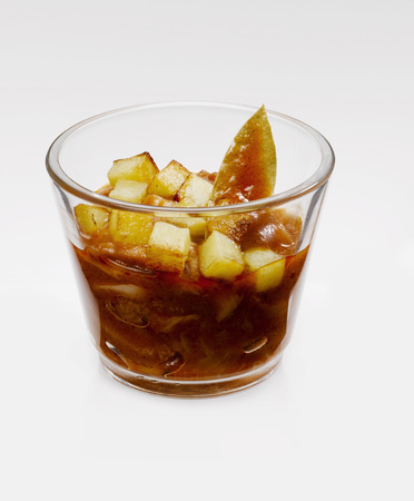 Glass of beef tripe photo