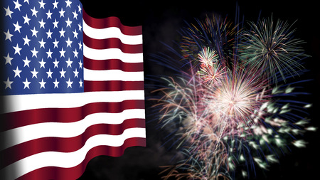 american flag fireworks: Fourth of July, Background, Fireworks, USA themed composites
