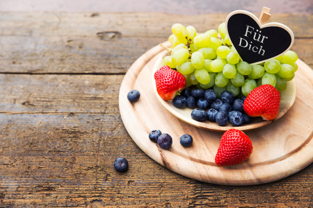 fruit bowl: Fruit bowl with heart, for you