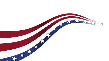 Fourth of July Hintergrund, themed USA Verbund Lizenzfreie Bilder