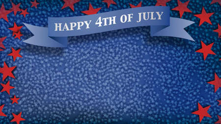 red and blue: Fourth of July Background, USA themed composite Stock Photo