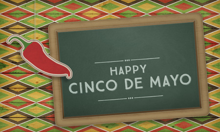 Cinco de Mayo, USA Mexican Celebration, Backgrounds. Blackboard with text