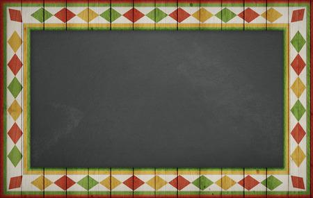 Cinco de Mayo,美国墨西哥庆祝,背景。空白的黑板