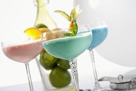 Different cream liqueurs photo