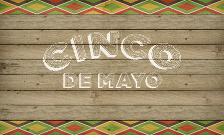 Cinco de Mayo, USA Mexican Celebration, Backgrounds Wood with text