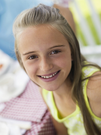 anticipate: Girl portrait smiling Stock Photo