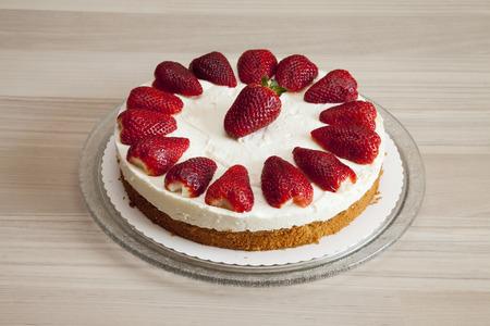 cream on cake: Fresa pastel de crema de yogur