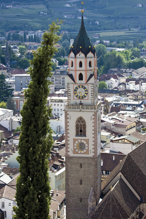 nikolaus: Italy, South Tyrol, Meran, St. Nikolaus Church