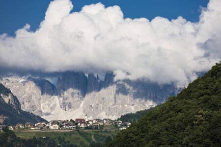 mountainscape: Italy, South Tyrol, Landscape, Mountain village Stock Photo