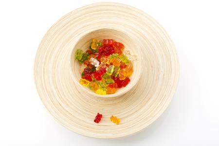 gummi: Gummi bears in bowl