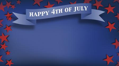 Fourth of July achtergrond, USA thema samengestelde