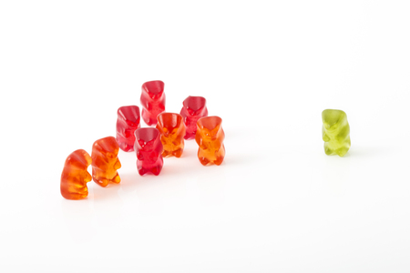 outsiders: Gummi bears, one isolated