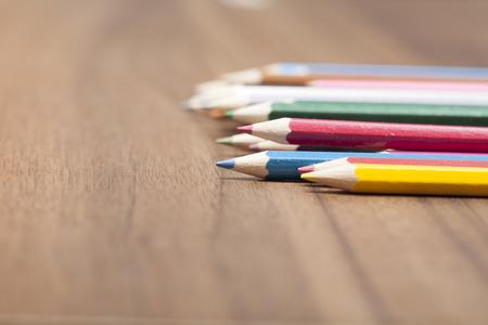 coloured pencil: Coloured pencils on wood