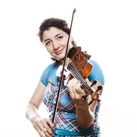 fiddlestick: Emotional young violinist playing music