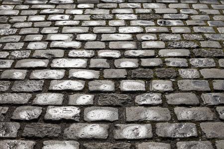 cobblestone: Cobblestone pavement, background Stock Photo
