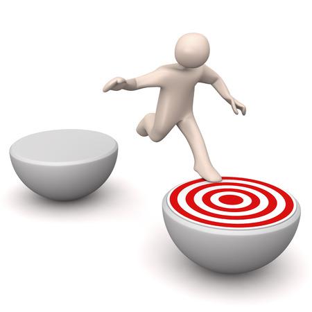 Manikin reaching target