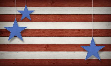 七月四日、背景、米国テーマ合成 写真素材