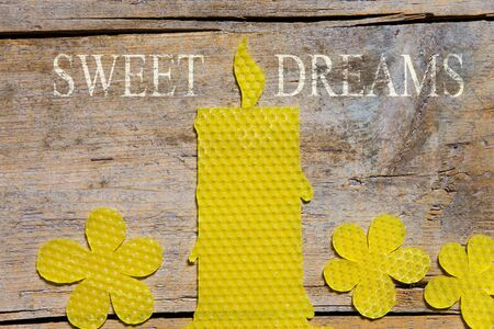 beeswax candle: Beeswax, Candle, sweet dreams Stock Photo