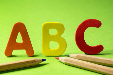 letter c: ABC letters and pencils