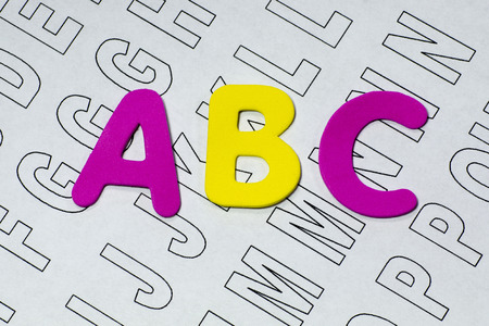 letter c: ABC letters on paper