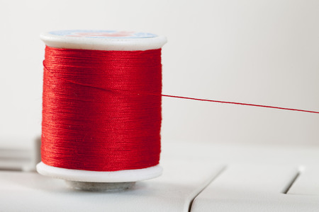 bobbin: Bobbin, red yarn