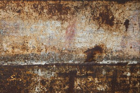rusty metal: Rusting iron plate