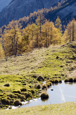mountainscape: Austria, Salzburg County, Mountain scenery with lake Stock Photo