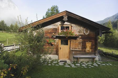 Austria, Karwendel, Log cabin