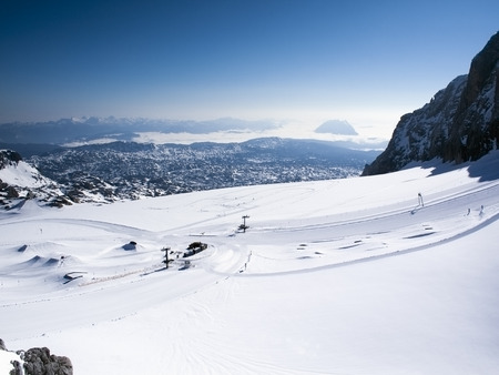 steiermark: Austria, Styria, Alps, View to ski-region Dachstein glacier
