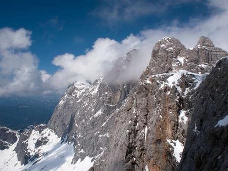 steiermark: Austria, Styria, Alps, View to Dachstein glacier Stock Photo