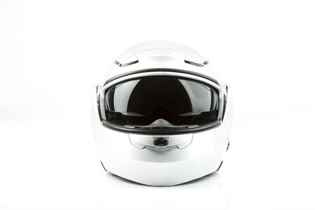 road safety: Motor bike helmet for road safety Stock Photo