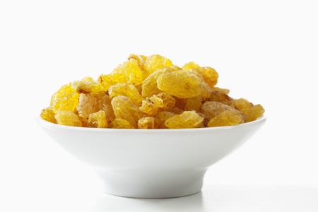 sultana: Sultana raisins on white background