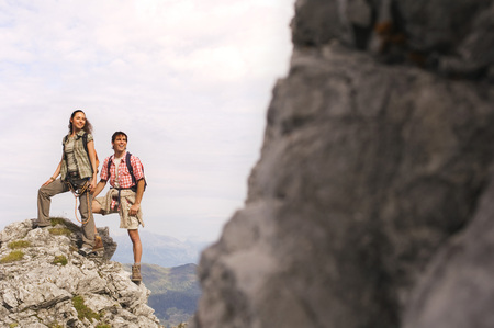 couple nature: Austria, Salzburger Land, couple hiking