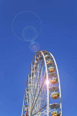 big wheel: Big wheel, copy space Stock Photo