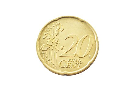 cent: 20 Euro Cent Coin Stock Photo