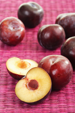 vitamines: Italian plums Stock Photo