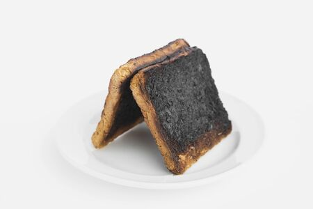 burnt: Burnt toast bread slices