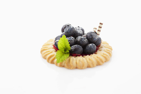 short crust pastry: Tart with blueberries