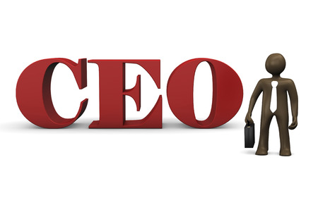 ceo: 3D Illustration, cartoon character, CEO